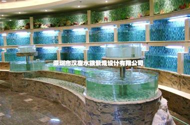 帝豪花园酒店定制异形海鲜池