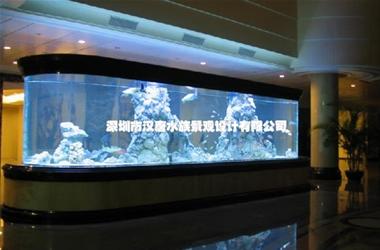 亚克力弧形海水缸